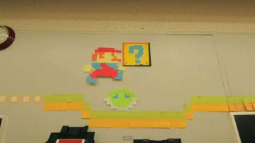 mario_stop_motion_video_created_with_post_it_notes