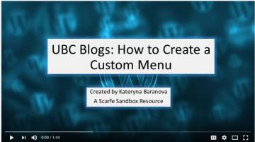 UBC Blog Tutorial 3 – Creating a Custom Menu