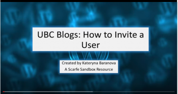 UBC Blog Tutorial 5 – Inviting Users to Your Blog