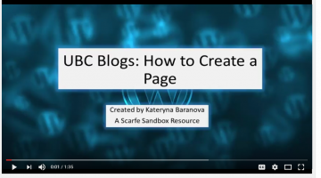 UBC Blog Tutorial 2 – Creating a Page