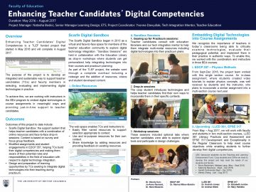 TLEF 2016 – 2017 Building Digital Competencies in Secondary Teacher Candidates