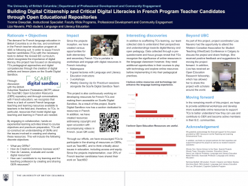 TLEF Grant 2018-2019 – Digital Literacies and Open Ed in the BEd French Program
